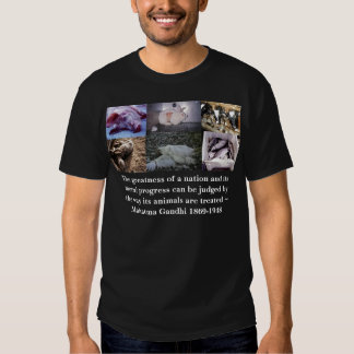 gandhi, The greatness of a nation and its moral... Tees