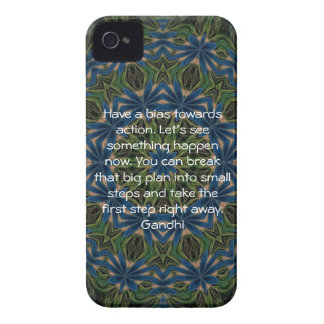 Gandhi Wisdom Quotation Saying about Action iPhone 4 Case-Mate Case