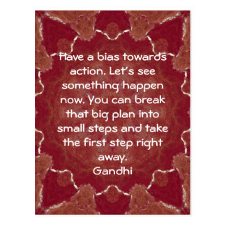 Gandhi Wisdom Quotation Saying about Action Postcard