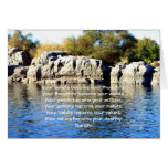 Gandhi Wisdom Saying Quotation About  Destiny Greeting Card