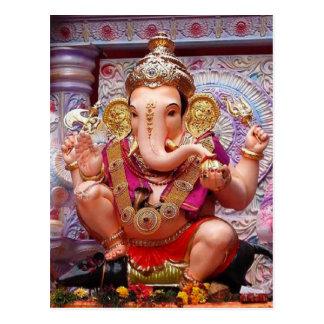 Ganesh (गणेश)  - Indian Elephant Deity Postcard
