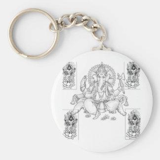 ganesh_and_shiva key ring