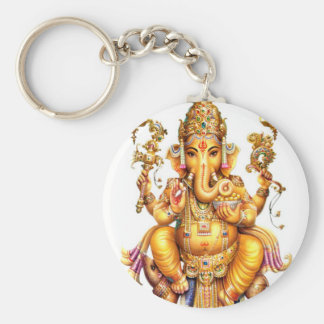 GANESH AURA BASIC ROUND BUTTON KEY RING