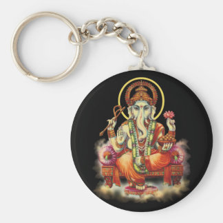 Ganesh Basic Round Button Key Ring