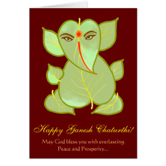 Ganesh Chaturthi Greetings Card