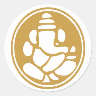 Ganesh Classic Round Sticker