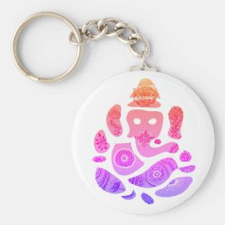 Ganesh Colorful Art Key Ring