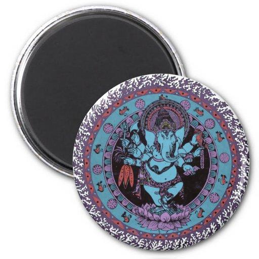 Ganesh Dancer 6 Cm Round Magnet