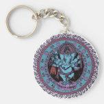 Ganesh Dancer Basic Round Button Key Ring