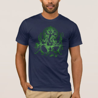 Ganesh detail GREEN T-Shirt
