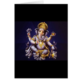 Ganesh Ganesha Hindu India Asian Elephant Deity Card