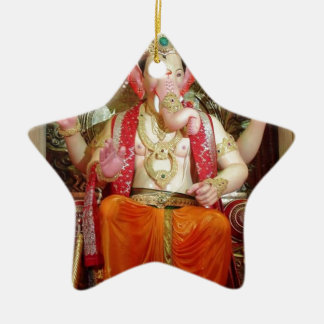 Ganesh Ganesha Hindu India Asian Elephant Deity Ceramic Star Decoration