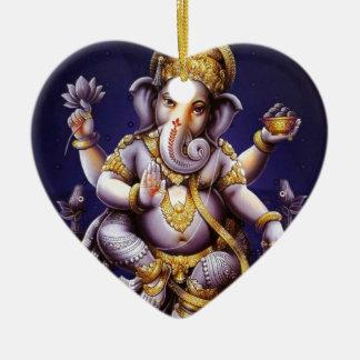 Ganesh Ganesha Hindu India Asian Elephant Deity Christmas Ornament