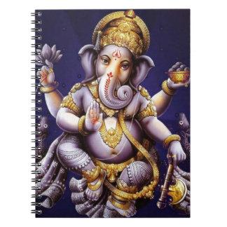 Ganesh Ganesha Hindu India Asian Elephant Deity Notebook