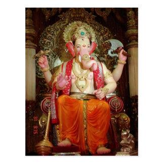 Ganesh Ganesha Hindu India Asian Elephant Deity Postcard