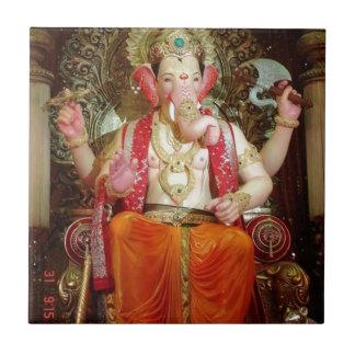 Ganesh Ganesha Hindu India Asian Elephant Deity Small Square Tile