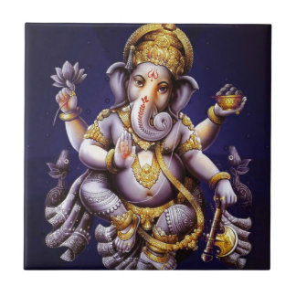 Ganesh Ganesha Hindu India Asian Elephant Deity Small Square Tile