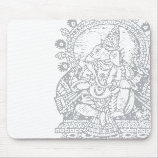 Ganesh: God of Success (silver) Mouse Pad