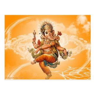 GANESH HINDU GOD POSTCARD