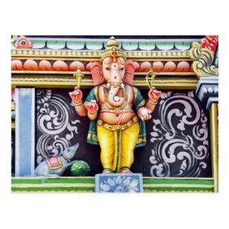 Ganesh Idol Sculpture Postcard