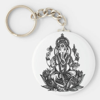 Ganesh Illustration Key Ring