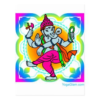 Ganesh in Rainbow colorful design Postcard