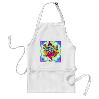 Ganesh in Rainbow colorful design Standard Apron
