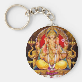 Ganesh Key Ring Basic Round Button Key Ring