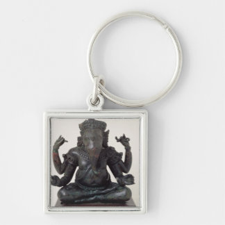 Ganesh, late 12th-early 13th century, Angkor Silver-Colored Square Key Ring