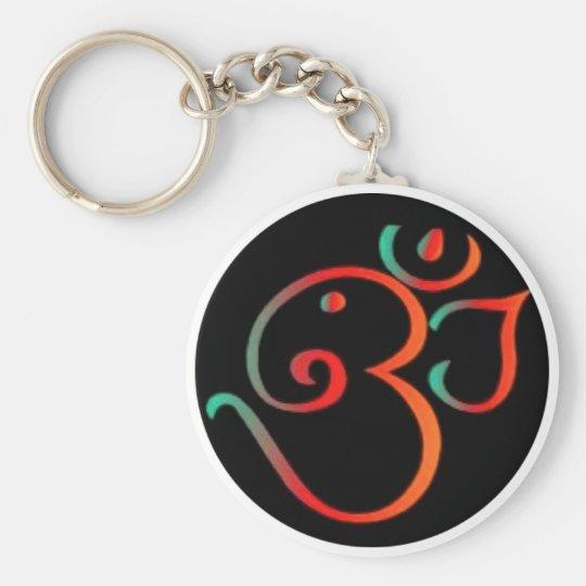 Ganesh Om Basic Round Button Key Ring