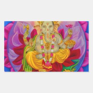 Ganesh Rectangular Sticker