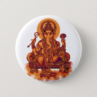 Ganesh - Remover of Obstacles 6 Cm Round Badge