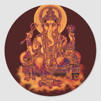 Ganesh - Remover of Obstacles Round Sticker