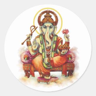 Ganesh Round Sticker