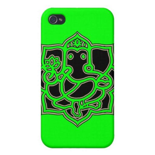 Ganesh Success - Fabric-Inlaid Hard Shell Case for iPhone 4/4S Case