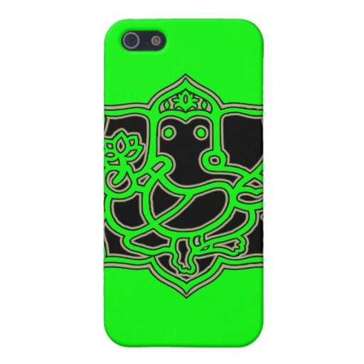 Ganesh Success - Fabric-Inlaid Hard Shell Case for iPhone 5 Covers