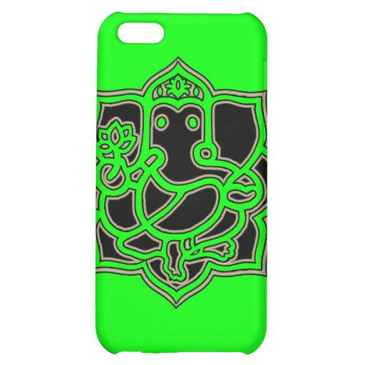 Ganesh Success - Fabric-Inlaid Hard Shell Case for Case For iPhone 5C
