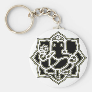 Ganesh the giver of Success Basic Round Button Key Ring