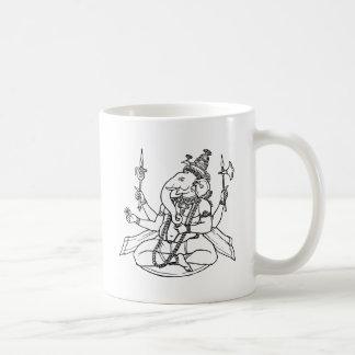 Ganesh, the Hindu God of Luck Basic White Mug