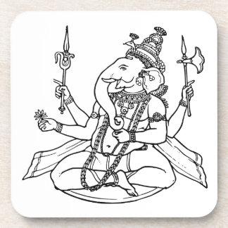 Ganesh the Hindu God of Luck Beverage Coaster