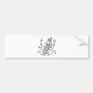 Ganesh the Hindu God of Luck Bumper Stickers
