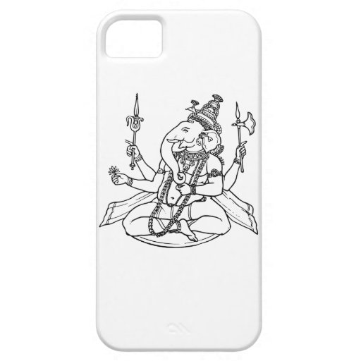 Ganesh, the Hindu God of Luck iPhone 5/5S Cases