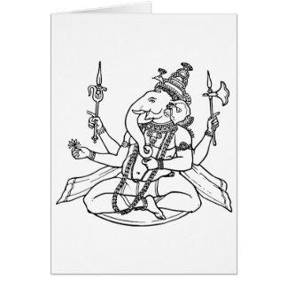 Ganesh the Hindu God of Luck Greeting Card