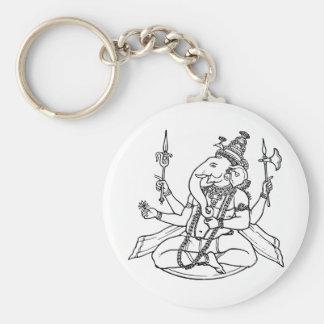 Ganesh, the Hindu God of Luck Key Chain