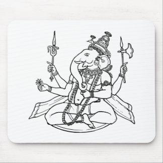 Ganesh the Hindu God of Luck Mousepads