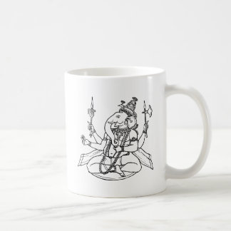 Ganesh, the Hindu God of Luck Coffee Mugs