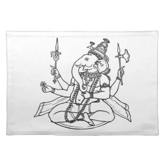 Ganesh the Hindu God of Luck Placemat