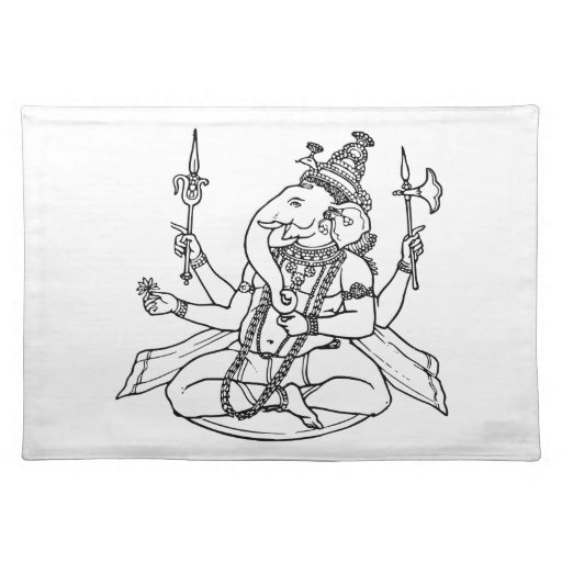 Ganesh, the Hindu God of Luck Placemat