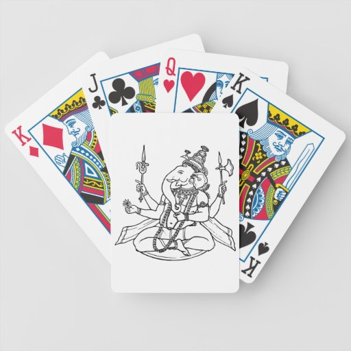 Ganesh, the Hindu God of Luck Bicycle Poker Deck