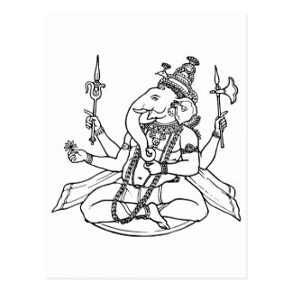 Ganesh, the Hindu God of Luck Postcard